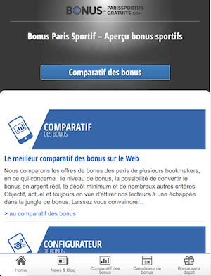 comparatif page version mobile